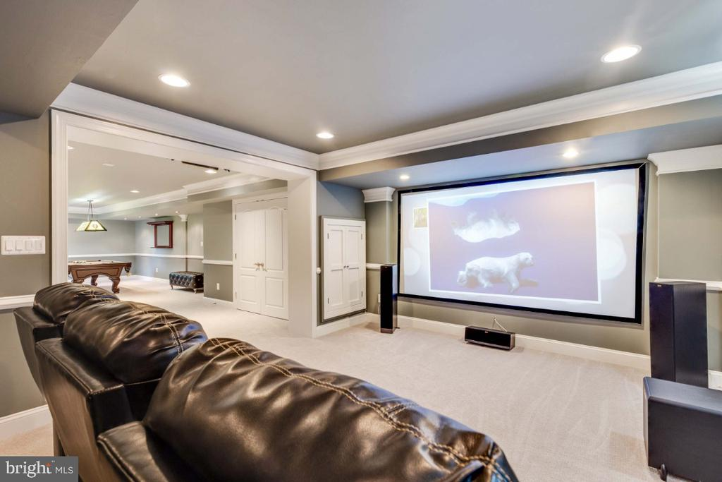 Wonderful Theatre Room - 21921 SILVERDALE DR, ASHBURN