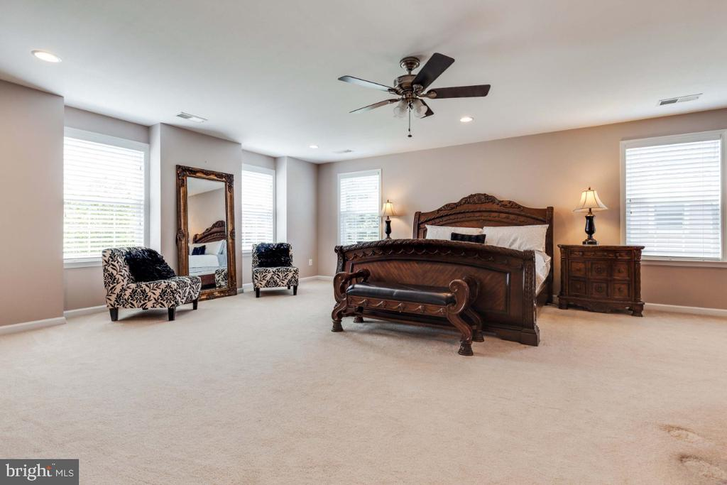 Spacious Master Suite with Sitting Room - 21921 SILVERDALE DR, ASHBURN
