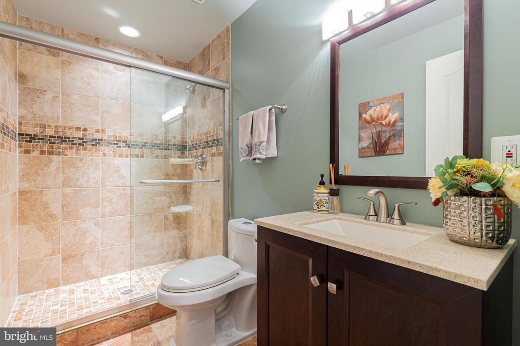 Updated Full Bathroom in the Basement - 21921 SILVERDALE DR, ASHBURN