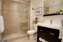 Beautifully renovated bathroom - 1312 MASSACHUSETTS AVE NW #109, WASHINGTON