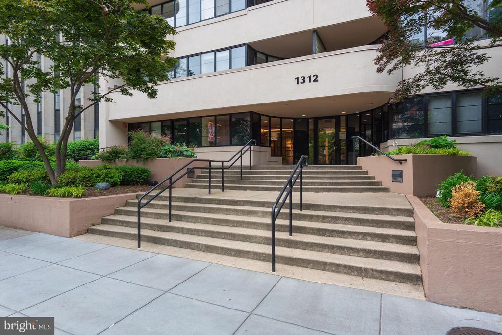 Midtown Condominium front entrance - 1312 MASSACHUSETTS AVE NW #109, WASHINGTON