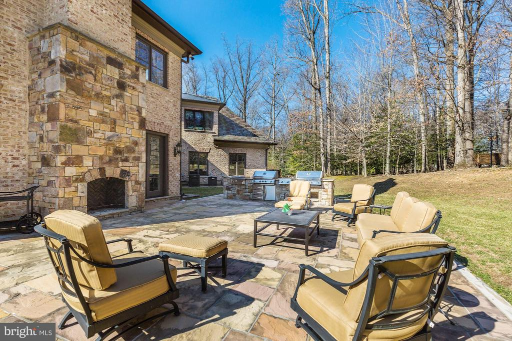 Outdoor Fireplace and Kitchen w/ 2 Grills! - 9811 AVENEL FARM DR, POTOMAC