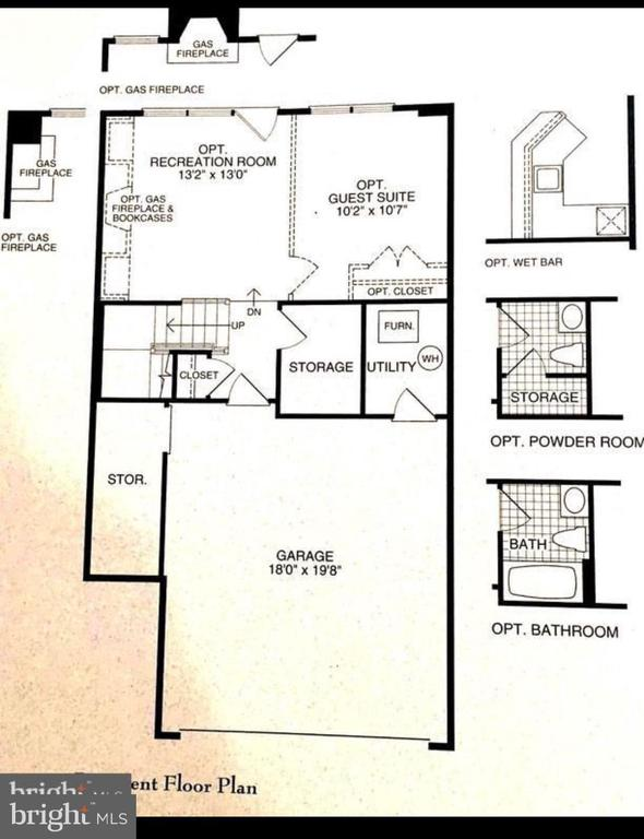 Approx Floor Plan Lower level is one big Room - 1641 HUNTING CREEK DR, ALEXANDRIA