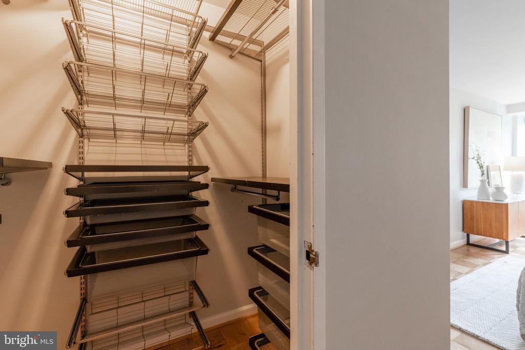 Built-in Closet Storage - 1435 4TH ST SW #B710, WASHINGTON