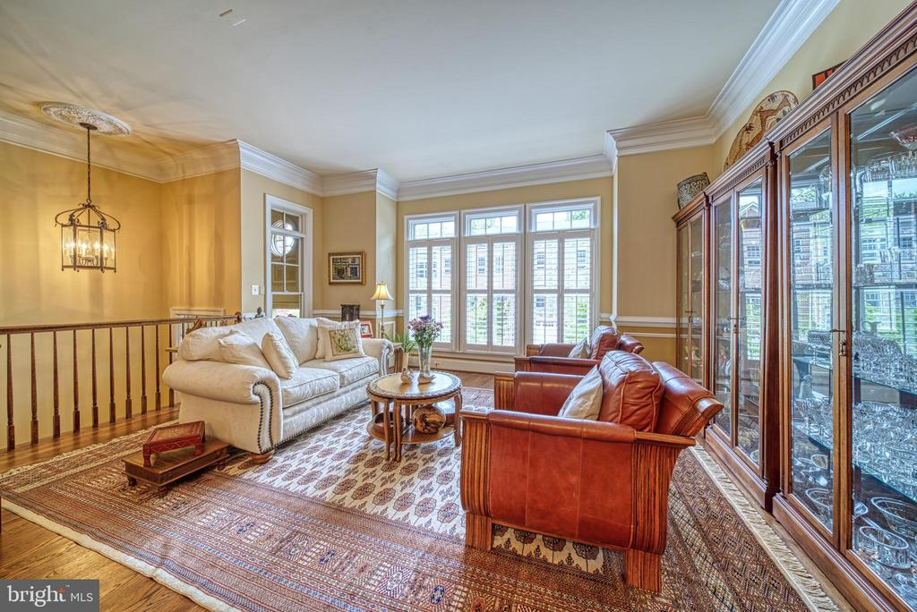 Expansive Living Room with 10' Ceilings. - 6745 DARRELLS GRANT PL, FALLS CHURCH