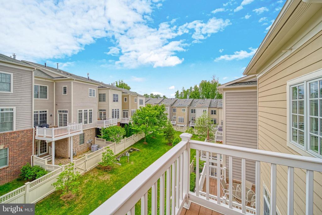 View from Owner's Suite Deck. Open Sky. WOW! - 6745 DARRELLS GRANT PL, FALLS CHURCH