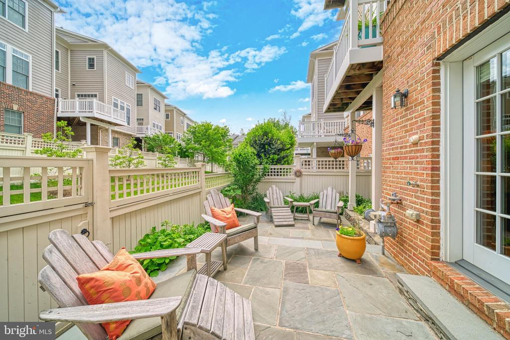 ..to this remarkable two level stone patio. Quiet+ - 6745 DARRELLS GRANT PL, FALLS CHURCH