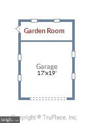 Garage and floorplan - 2407 KING ST, ALEXANDRIA