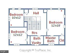 Upper level 1 floorplan - 2407 KING ST, ALEXANDRIA