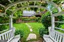 Wonderfully romantic wisteria covered archway - 2407 KING ST, ALEXANDRIA