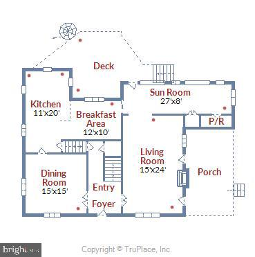Main level floorplan - 2407 KING ST, ALEXANDRIA