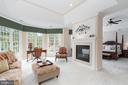 Owner's suite sitting area with gas fireplace - 3242 FOXVALE DR, OAKTON