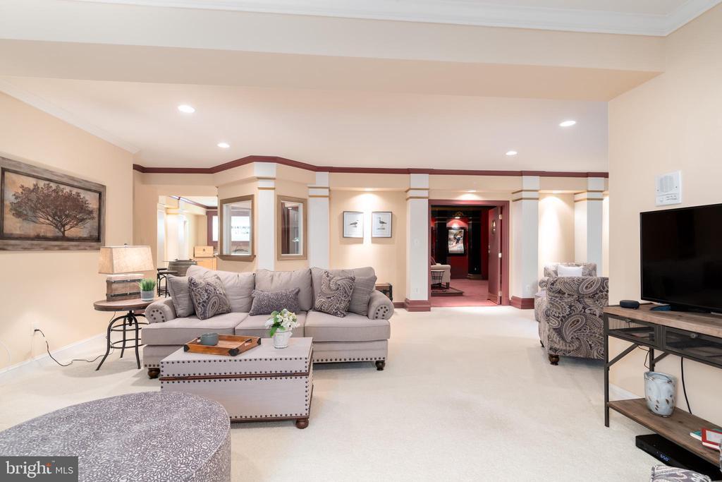 Basement family room, dining area, movie theatre - 3242 FOXVALE DR, OAKTON