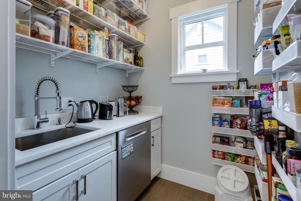 Pantry with built-in , 2nd dishwasher and sink - 1313 N HERNDON ST, ARLINGTON