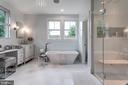 Master bathroom - porcelain double tub - 1313 N HERNDON ST, ARLINGTON