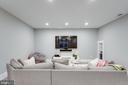 Built-in Media/Recreational  room (basement) - 1313 N HERNDON ST, ARLINGTON