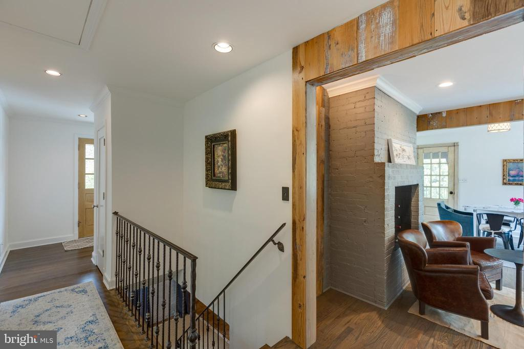 Rod iron railing in main entry hall...nice touch! - 3401 N EMERSON ST, ARLINGTON