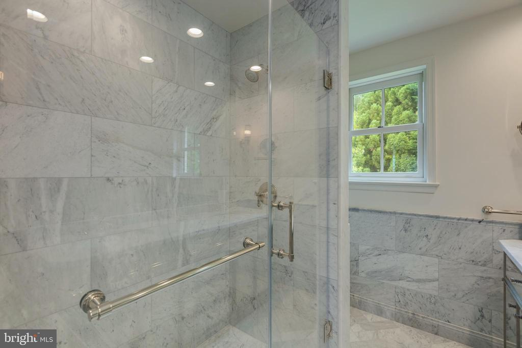Tasteful as can be...the master shower - 3401 N EMERSON ST, ARLINGTON