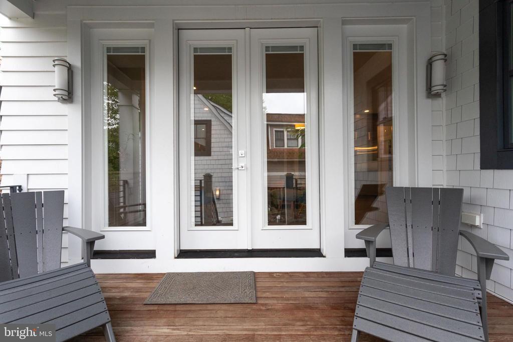 Back porch - 1313 N HERNDON ST, ARLINGTON