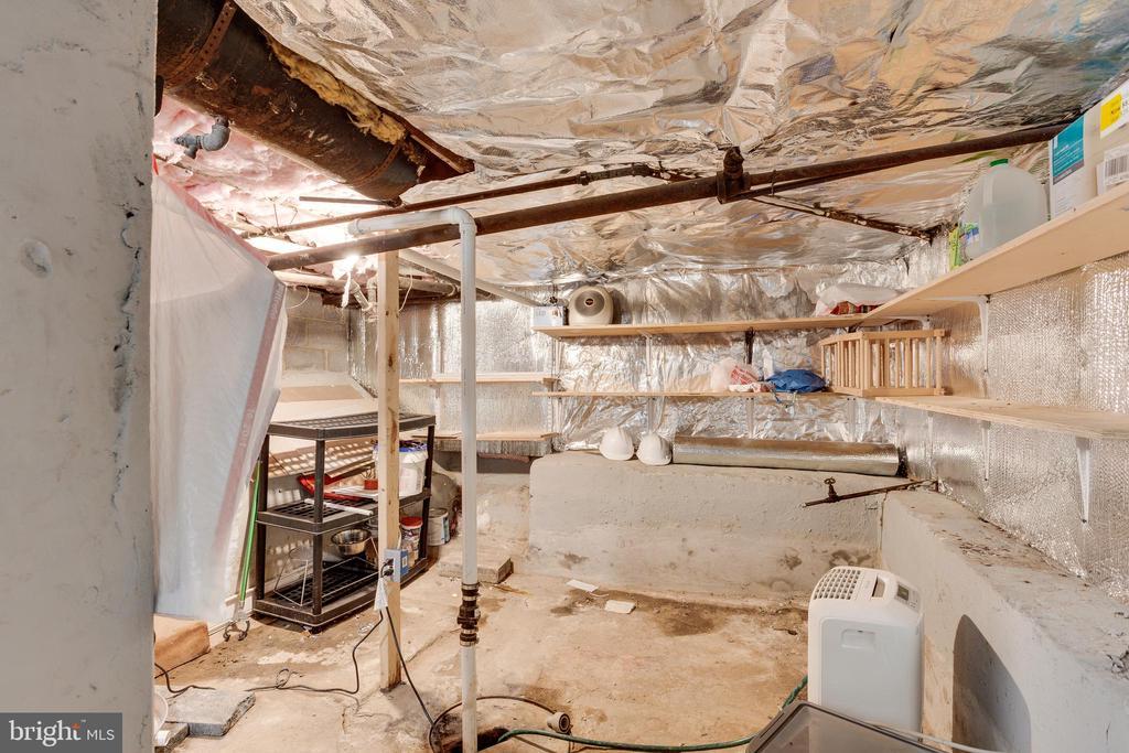 unfinished half size basement for storage only - 5215 DIX ST NE, WASHINGTON