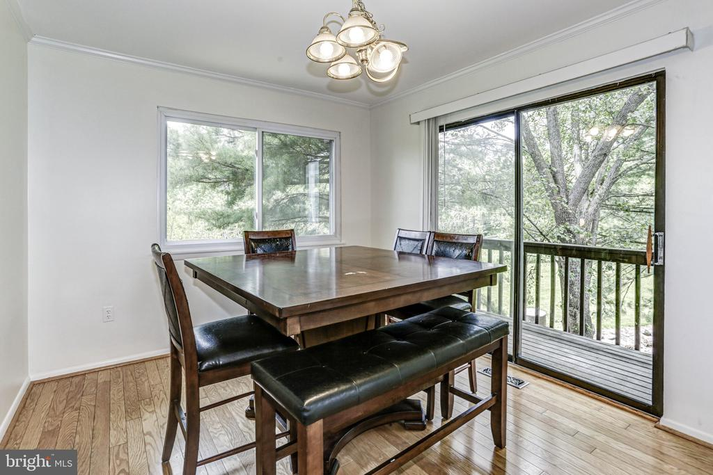 Dining Room and Deck - 18400 STONE HOLLOW DR, GERMANTOWN