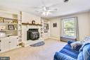 Family Room with Hearth - 123 LAKE DR, STERLING