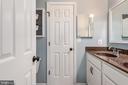 Full Buddy bath between bedrooms, double sink - 259 HEFLIN RD, STAFFORD
