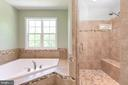 Large soaking tub and tiled shower - 259 HEFLIN RD, STAFFORD