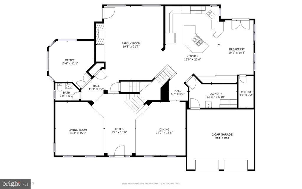 Main Level Floor Plan - 47320 MIDDLE BLUFF PL, STERLING