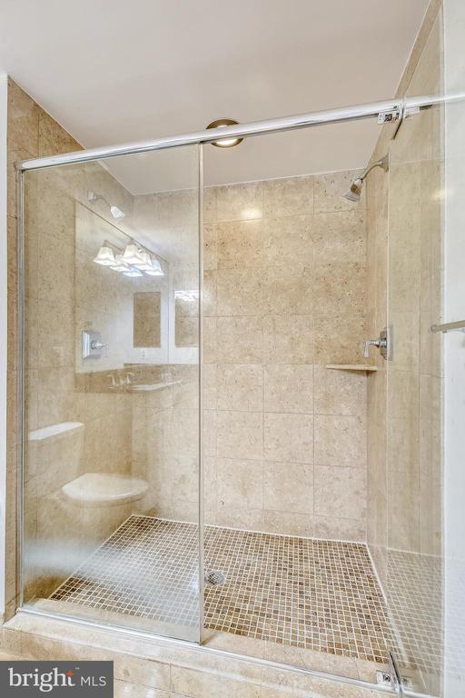 Master Bathroom Shower - 7710 WOODMONT AVE #1207, BETHESDA