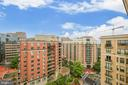 View From French Balcony - 7710 WOODMONT AVE #1207, BETHESDA