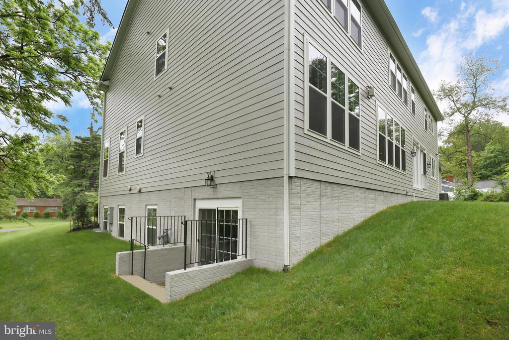 Exterior shot of basement egress - 9108 SOUTHWICK ST, FAIRFAX