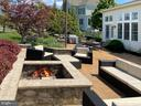 Outdoor Stone Firepit - 21079 MILL BRANCH DR, LEESBURG