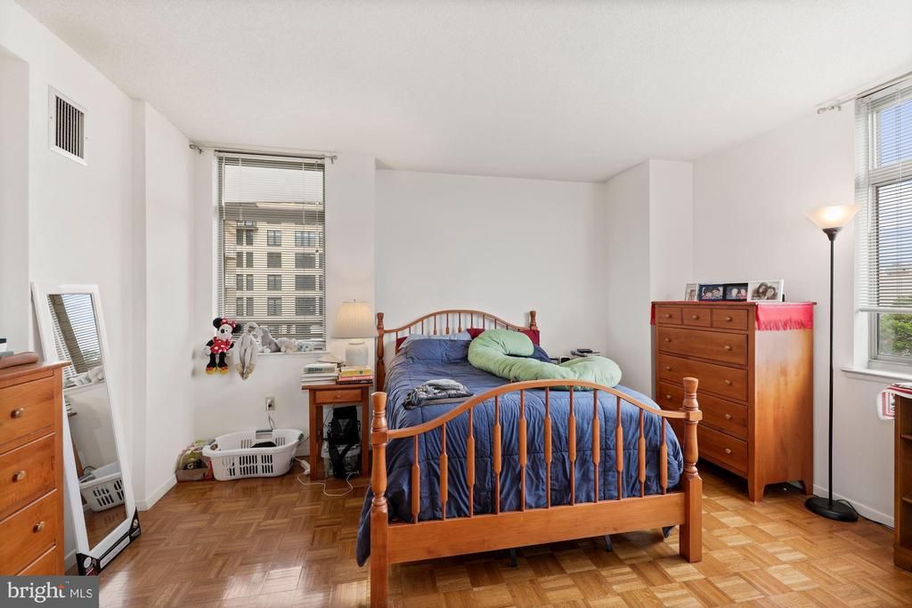 Bedroom with Wood Floors - 7111 WOODMONT #701, BETHESDA