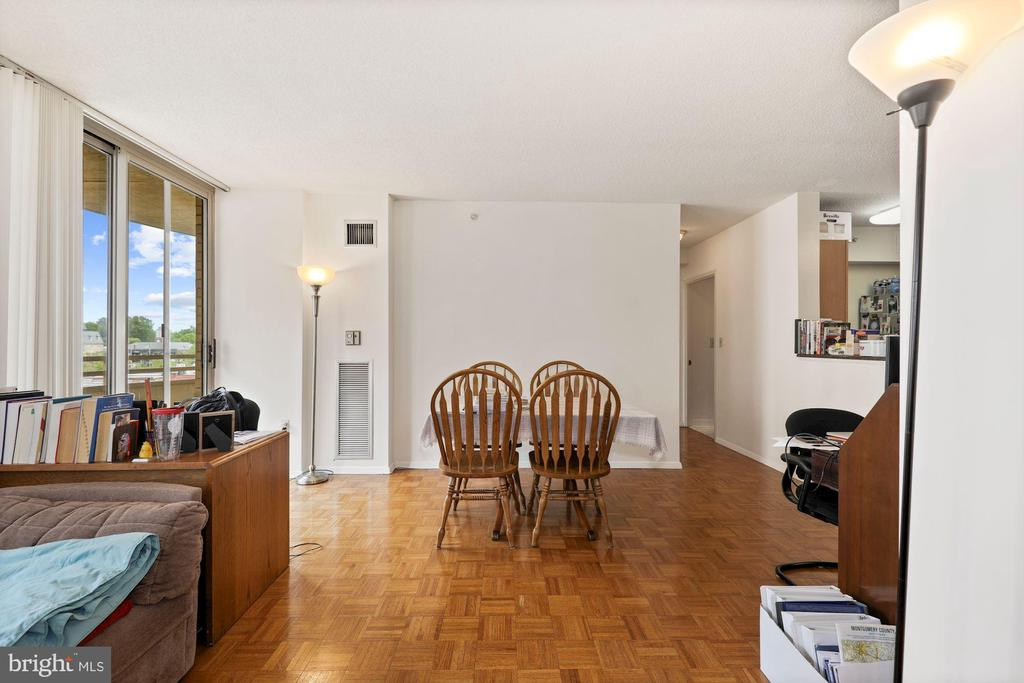 Sliding Door  Opens to Balcony - 7111 WOODMONT #701, BETHESDA