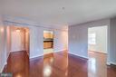 Living area, den, kitchen - 3611 38TH ST NW #101, WASHINGTON