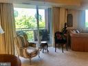 Living Room with Second Balcony - 5809 NICHOLSON LN #409, NORTH BETHESDA
