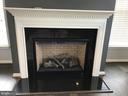 Gas Fireplace w/Mantle (TV mount above) & speakers - 112 FREESIA LN, STAFFORD