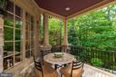 Charming covered Terrace off Kit./Breakfast Room - 8417 BROOKEWOOD CT, MCLEAN