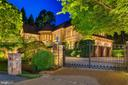 Custom Iron Gated Entrance Night View - 8417 BROOKEWOOD CT, MCLEAN