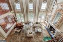 Two- Story Family Room View from Above - 8417 BROOKEWOOD CT, MCLEAN
