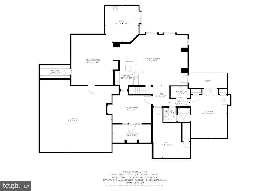 Main Level Floor Plan - 606 DEERFIELD POND CT, GREAT FALLS