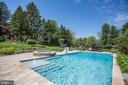 Pool with Deck Jets & Spa - 606 DEERFIELD POND CT, GREAT FALLS