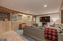 Lower Level - Recreation Room with Fireplace - 4070 52ND ST NW, WASHINGTON