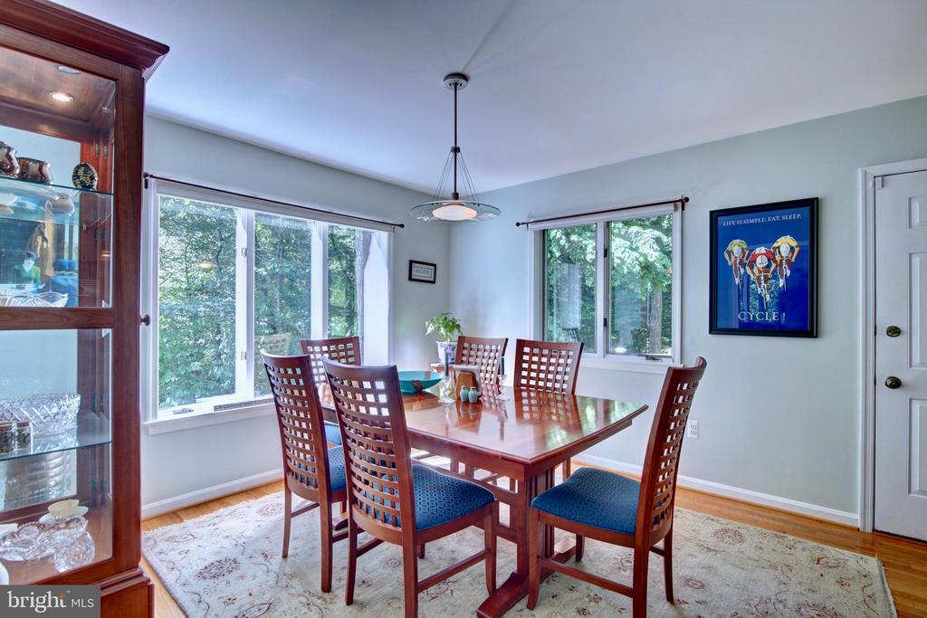 Dining Room with Large Windows - 12729 MYERSVILLE LN, LEESBURG