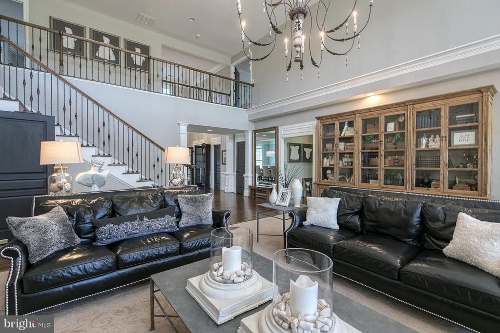 Stunning two-story family room - 21079 MILL BRANCH DR, LEESBURG