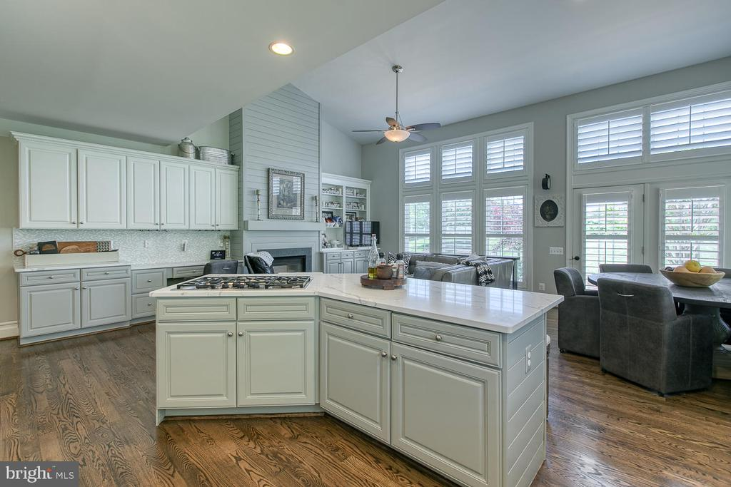 Large, open-concept updated kitchen - 21079 MILL BRANCH DR, LEESBURG