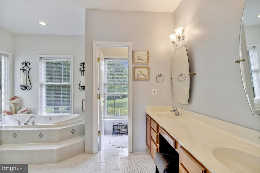Gorgeous ensuite master bath with updates! - 19 POTOMAC OVERLOOK LN, STAFFORD