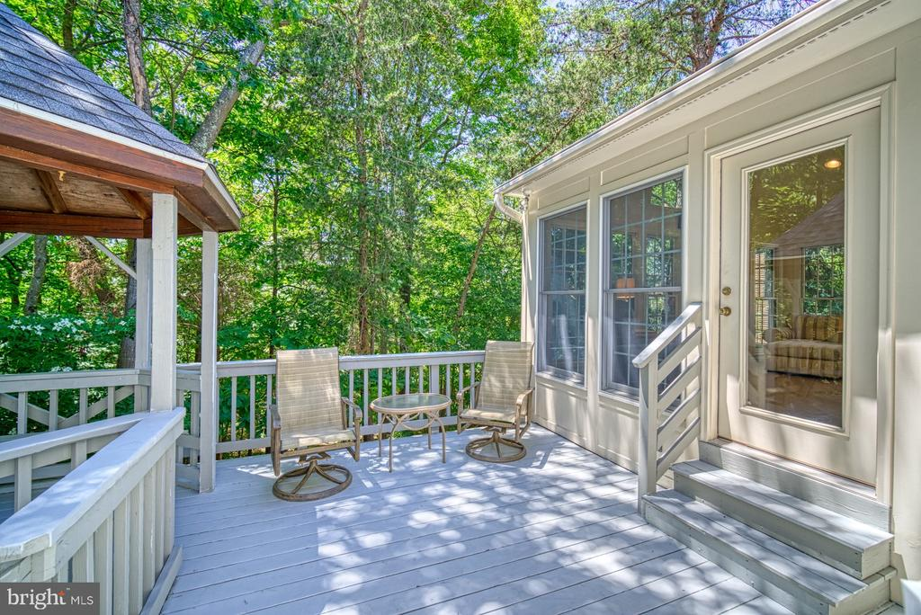 Deck off Sunroom - 11959 GREY SQUIRREL LN, RESTON