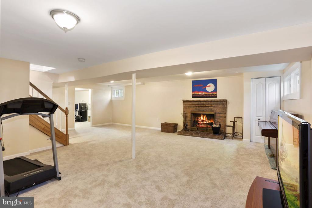 Basement with Hardwood Fireplace. - 203 TAPAWINGO RD SE, VIENNA